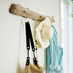 55 home decorating projects | Driftwood coatrack | Sunset.com