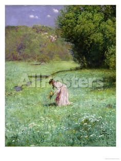 Woodland Meadow, 1876 by Lantern Press Landscapes Giclee Print - 46 x 61 cm