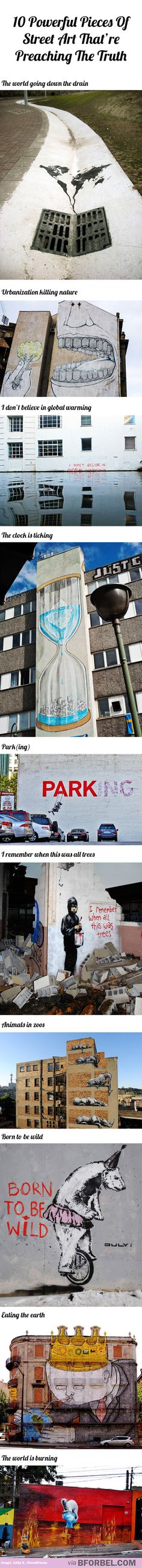 10 powerful pieces of street art that're preaching the truth
