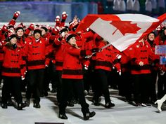 Team Canada Olympic uniform // these Peddington Bear jackets are quite dapper