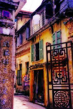 slanted door from Hanoi Vietnam