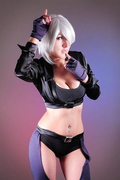 Angel Cosplay- Get the same look with our White Shag Wig available here: http://cosplaywigsusa.com/character-cosplay-wigs/white-shag/