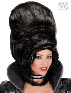 Baronin Edeldame Perücke schwarz aus unserer Kategorie Halloween Perücken. Sie wollten sich schon immer einmal wie eine echte Baronin fühlen? Mit dieser fantastischen Damenperücke haben Sie die einmalige Möglichkeit dazu. Eine Perücke, die jedes Halloween-und Karnevalkostüm veredelt!