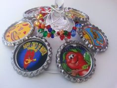Cinco De Mayo Party Favors, Margarita Glass Charms a Set of 6 | PartySupplies2 - Accessories on ArtFire  put these on solo cups, wine glasses, margarita glasses and more..get matching cupcake toppers