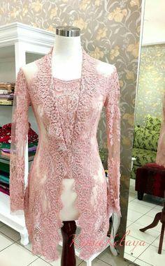 Kebaya Lace, Batik Kebaya, Kebaya Dress, Batik Dress, Lace Dress, Kebaya Pink, Kebaya Kutu Baru Hijab, Kebaya Kutu Baru Modern, Kebaya Muslim