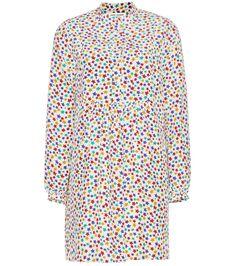 SAINT LAURENT Printed Silk Dress. #saintlaurent #cloth #dresses