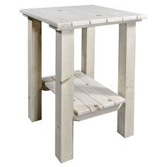 Homestead Collection Exterior End Table, Ready to Finish 1 Western Living Rooms, Living Room Shop, Living Room Chairs, Furniture Market, Rustic Furniture, Deck Chairs, Deck Benches, Rustic End Tables, Timber Frame Homes