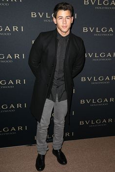 Nick Jonas was one stylish guy in Sandro's separates.