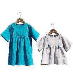 Patron de couture DUO Blouse + Robe Fille SAKURA 3-12 – ikatee
