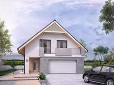 Projekt domu Amarylis 3 152,6 m2 - koszt budowy - EXTRADOM Model House Plan, House Plans, Modern Bungalow House, Home Greenhouse, Attic Rooms, Good House, Home Fashion, Beautiful Homes, Living Spaces