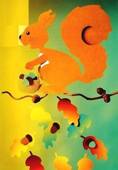 Papírból kivágott ősz | Creative Ellie Fall Paper Crafts, Autumn Crafts, Fall Crafts For Kids, Autumn Art, Autumn Theme, Crafts To Make, Art For Kids, Halloween Girlande, Fall Diy