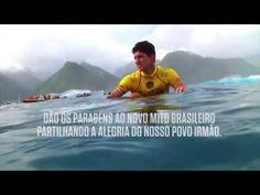 O novo campeão mundial de surf fala português! Parabéns Gabriel Medina! Parabéns Brasil!   Gabriel Medina Campeão Mundial de Surf 2014. Portugal e os portugueses dão os parabéns ao novo mito brasileiro partilhando a alegria do nosso povo irmão.