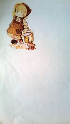 Eu colecionava papel de carta quando criança!