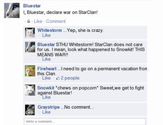 Facebook Warriors: Bluestar is Crazeh by The-Devious-Wolf on DeviantArt