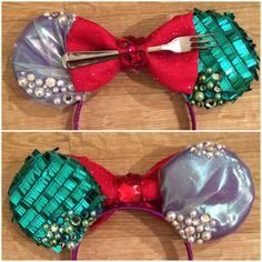 DIY Little Mermaid Inspired Mickey Ears