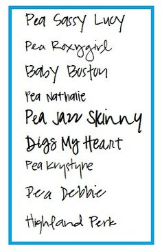 cute handwriting fonts