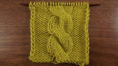 This video knitting tutorial will help you learn how to knit the chunky cable stitch. This large cable pattern is a great way to add interesting details to sweaters, blankets, and pillows. It's size will definitely draw attention Knitting Stiches, Knitting Videos, Crochet Stitches Patterns, Knitting Yarn, Knitting Projects, Baby Knitting, Stitch Patterns, Knitting Patterns, Knit Stitches