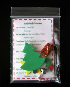 Miniature Christmas symbols kit.