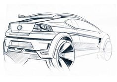 car sketch with freehand