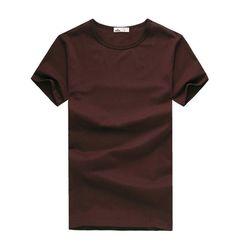 Free new Slim dark green red orange blue gray black white T shirts Slim Fit Short Sleeve T-shirt 6 size S-XXXL