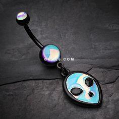 Blackline Iridescent Alien Belly Button Ring