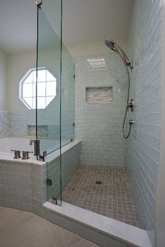 subway style tile shower