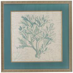 Bassett Mirror Pan Pacific Coral Motif I Art
