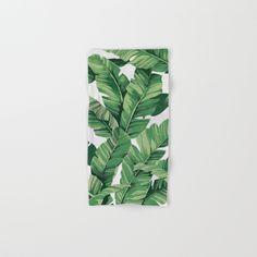 Buy Tropical Banana Leaves VI Hand Bath Towel By Catyarte Worldwide Shipping Available At