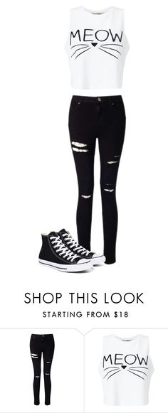 """Untitled #264"" by martina-cmv on Polyvore featuring мода, Miss Selfridge и Converse"