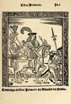 Amadís de Gaula (libro I). Portada de la edición de Roma, 1519.