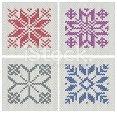 Nordic knitting star patterns stock vector art 18545635 - iStock
