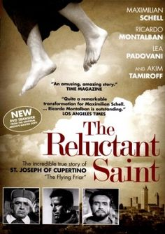 """The Reluctant Saint DVD: The incredible true story of St. Joseph Cuper Maximilian Schell stars as """"the flying friar"""", St. Joseph of Cupertino, true story of the humble Franciscan friar who literally flys to sainthood. St Joseph Of Cupertino, Easter Movies, Maximilian Schell, Zeffirelli Romeo And Juliet, St Rita Of Cascia, The Incredible True Story, Amazing, Original Copy, Fantasy Island"""