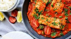 White Fish in Simple Tomato Sauce - Free Restaurant Recipes