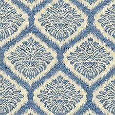 Mumbai Ikat #fabric in #blue from the Cypress collection. #Thibaut