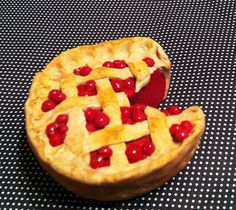 Homemade Cherry Pie Magnet Polymer Clay by GuiltfreeDecadence, $9.00