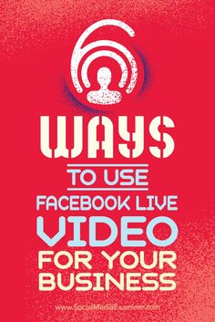 Are you wondering how your business can use Facebook Live?  Using live video will improve your Facebook reach and it can take less time than writing individual posts.  In this article, you'll discover six ways your business can succeed with Facebook Live video. Via /smexaminer/.