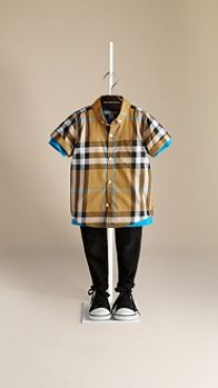 Check Cotton Twill Shirt | Burberry