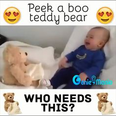 Best 12 👶👶 Babies are loving this Teddy Peek-a-boo Bear 😍 Perfect Gift for your little ones 🎁 The Babys, Funny Babies, Cute Babies, Bebe Video, Talking Teddy Bear, Baby Shower Gifts, Baby Gifts, Cute Blankets, Baby Blankets