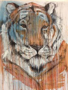Tiger drawing Tiger Drawing, Moose Art, Drawings, Boys, Painting, Animals, Baby Boys, Animales, Animaux