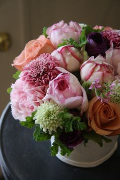 rose,carnation and scabiosa
