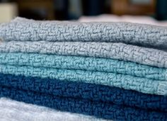 Sebec Blanket - made with a reverse herringbone texture, these cotton blankets, made in Maine, USA, will surely add warmth and coziness to your bedroom. NEW Fall