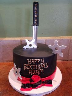The Cake Bar Bakery, Franklin MA - Custom Cakes, Desserts & Confections Naruto Birthday, Ninja Birthday Parties, Ninja Party, Karate Cake, Art Birthday Cake, Ninja Cake, Anime Cake, Family Cake, Cake Bars