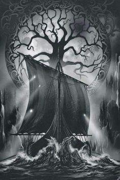 Community about Norse Mythology, Asatrú and Vikings. Viking Tattoo Meaning, Viking Ship Tattoo, Viking Tattoo Sleeve, Viking Tattoo Design, Norse Pagan, Viking Symbols, Viking Art, Viking Runes, Mayan Symbols