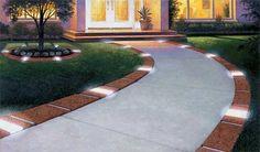 Edge It Solar Lighted Decorative Plastic Brick Edging (driveway edging) #landscape