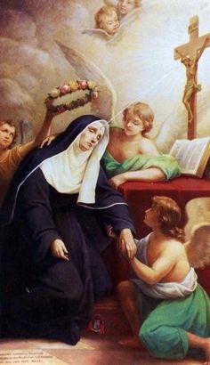 St Rita of Cascia | www.saintnook.com/saints/ritaofcascia |The ecstasy of St Rita