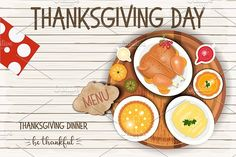 Thanksgiving Day Greeting Card by elfivetrov on @creativemarket