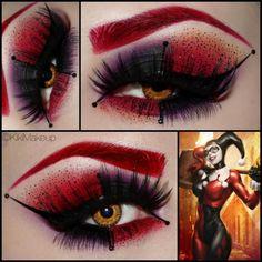 Harley Quinn makeup love it