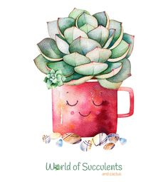 Watercolor Handpainted Succulent Plant In Pot And Pebble Stone. Stock Illustration - Illustration of isolated, leaves: 87979922 Cactus Drawing, Cactus Art, Cover Wallpaper, Pattern Wallpaper, Plant Painting, Pebble Stone, Cactus Y Suculentas, Art Drawings Sketches, Decoupage