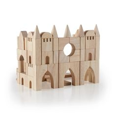 Guidecraft™ Tabletop Building Blocks are an open-ended building block set featuring standard unit blocks in 16 different shapes used to build fine-motor skills. Wooden Building Blocks, Wooden Blocks, Building Toys, Kids Learning Toys, Wooden Castle, Kids Blocks, Wooden Puzzles, Wood Toys, Diy Toys