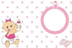 Chá de Bebê ou Nascimento Menina - Kit Completo com molduras para convites, rótulos para guloseimas, lembrancinhas e imagens!